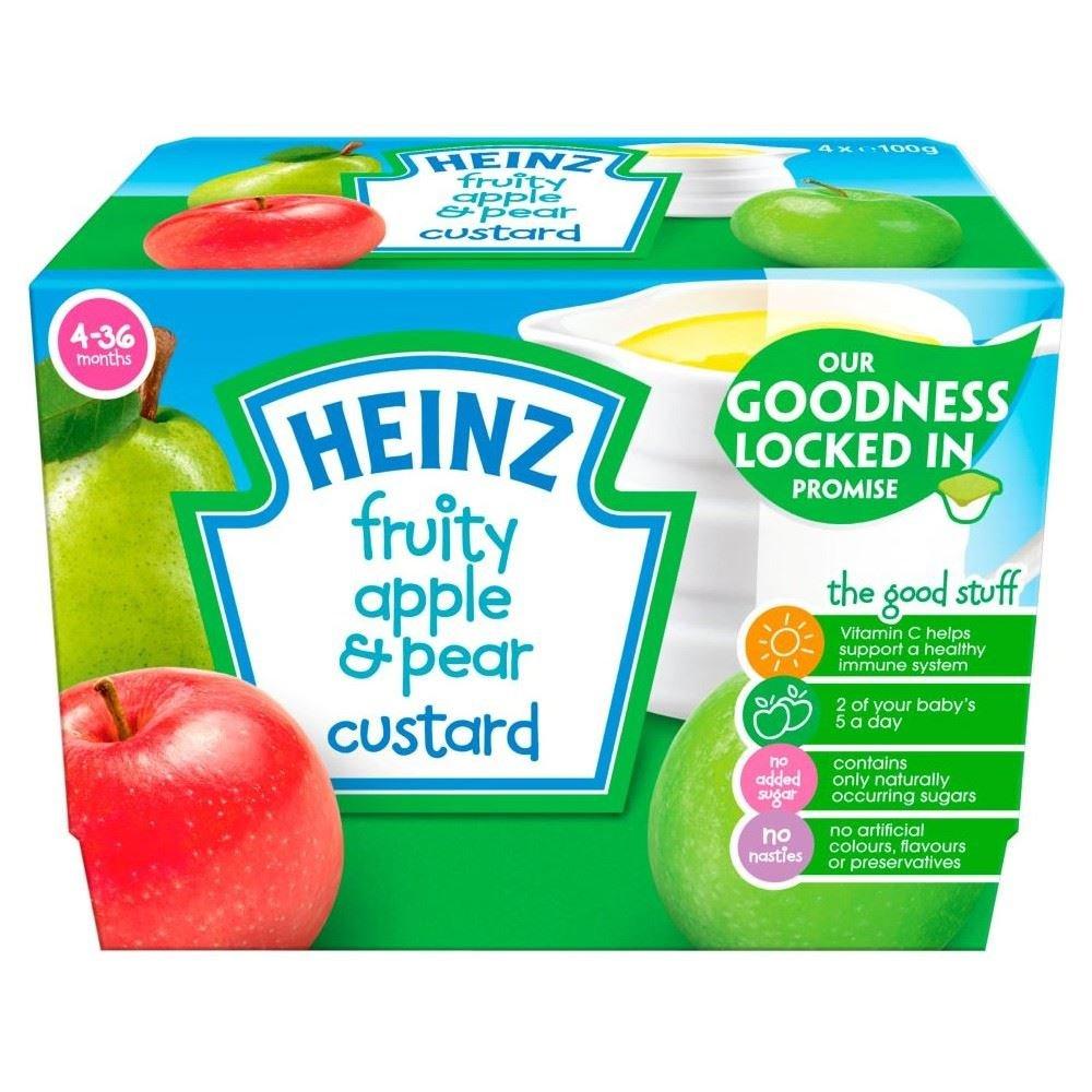 Heinz Fruity Custard Pear & Apple 4mth+ (4x100g)