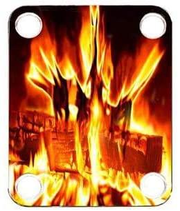 Custom Graphical Guitar Neck Plate Neckplate Fire 5