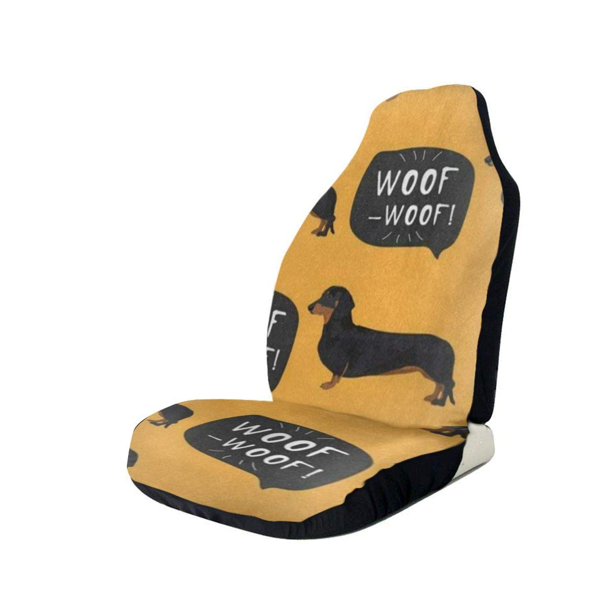 Car Seat Cover Cute Dachshund Dog Car Seat Protector,Waterproof Anti-Slip Durable Soft Car Seat Covers for Universal Size Fits for Cars,Trucks & Suvs