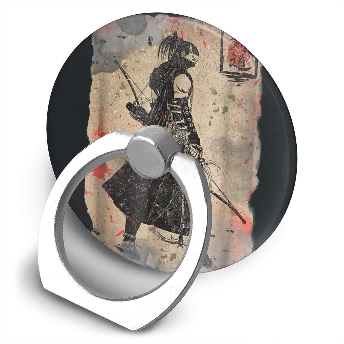 Yeorquae Samurai Sword Retro Japanese Alloy Mobile Phone Ring Bracket,360 Degree Rotating Ring Stand Grip Mounts