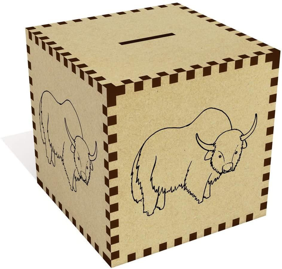 Azeeda Large 'Buffalo' Money Box / Piggy Bank (MB00039200)