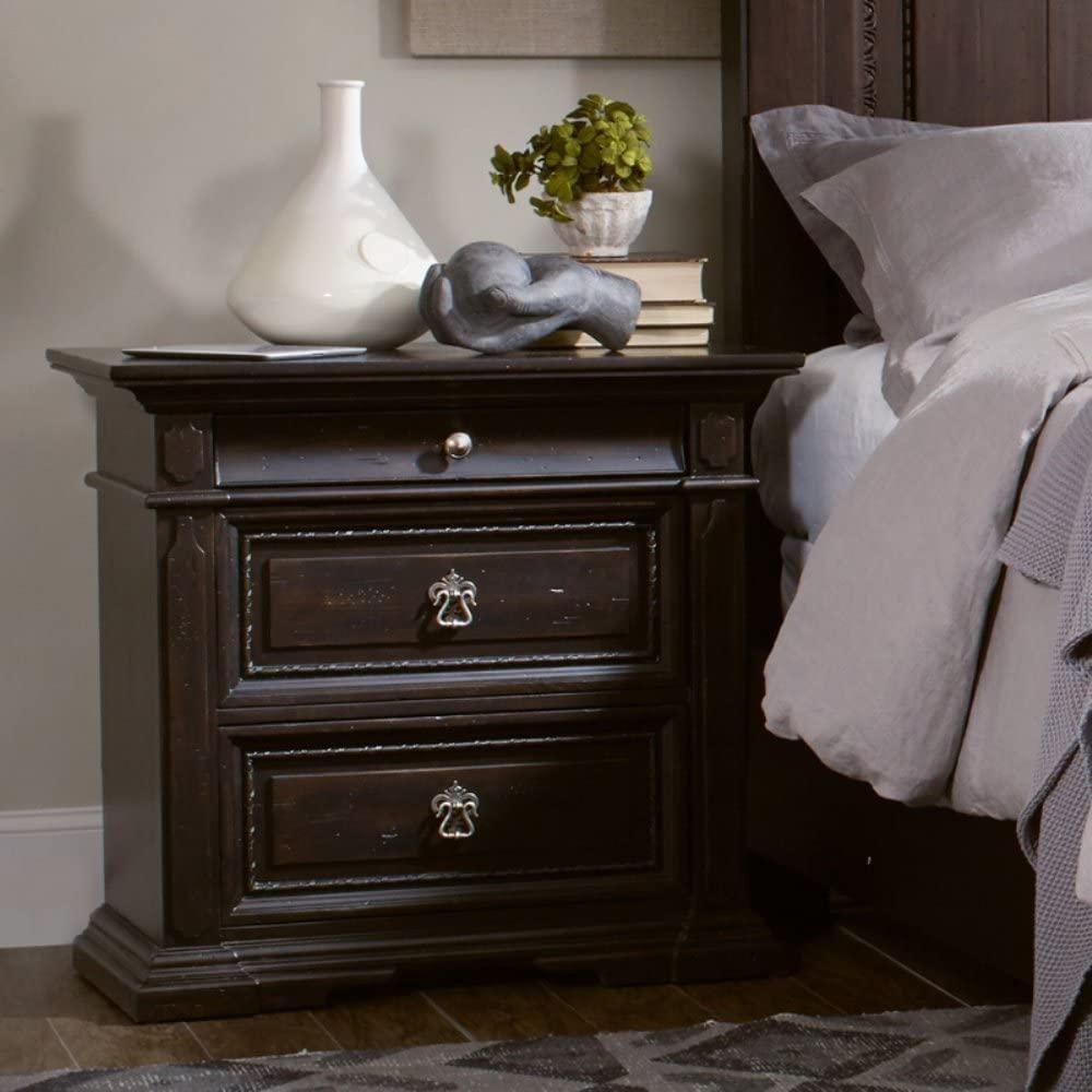 Hooker Furniture Treviso 3 Drawer Nightstand in Rich Dark Macchiato