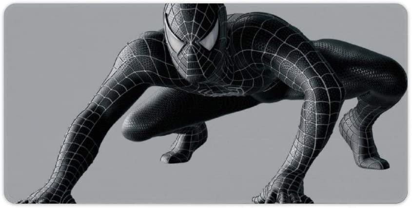 Extended Large Gaming Mouse Pad Compatible for Spider-Man Black Suit 23.6