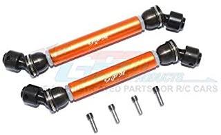 Axial Capra 1.9 Unlimited Trail Buggy Upgrade Parts Steel+Aluminium Front+ Rear CVD Drive Shaft - 2Pc Set Orange