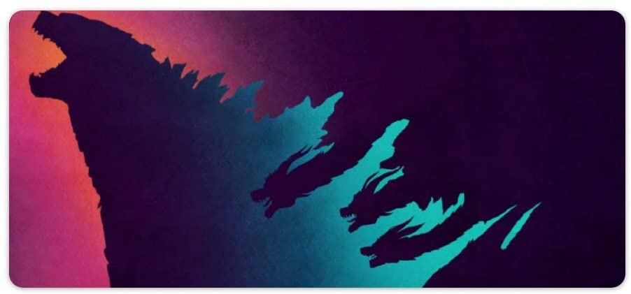 Extended Large Gaming Mouse Pad Compatible for Godzilla Neon Gradient 35.4
