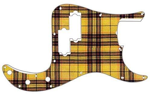 Custom Graphical Pickguard to fit Fender P Bass Precision Bass Tartan - Macleod