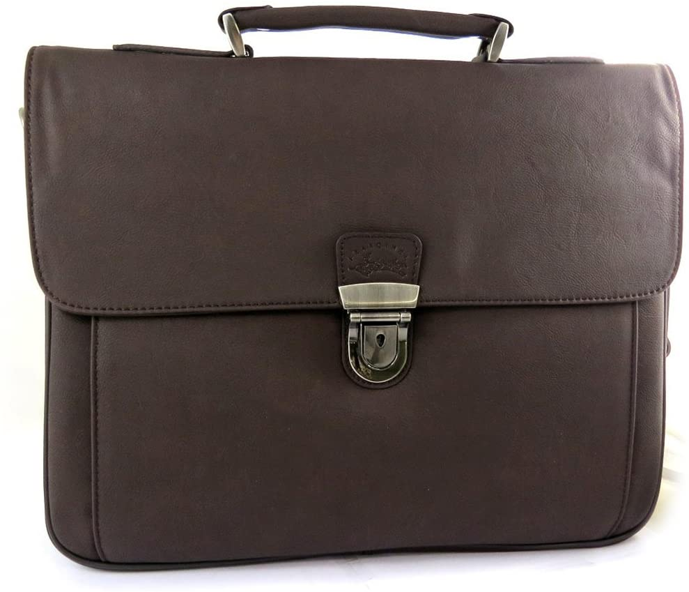 Francinel [L8274] - Briefcase Lafayette brown (1 bellows).