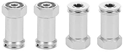 Parts & Accessories 4pcs 24mm Aluminum Alloy Metal Hex Hub Extension Adapter for 1/16 for Traxxas Slash Short Course Truck RC Car - (Color: Silver)