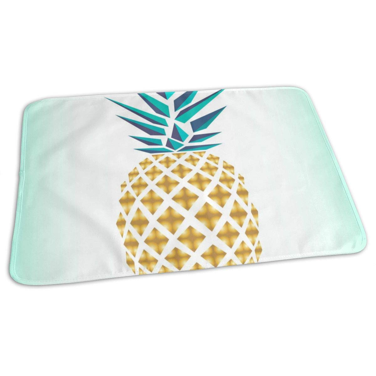 ZZguowuque Portable Changing Pad -Reusable Waterproof Baby Changing Pad(9.457.09 Inch) Green Pineapples