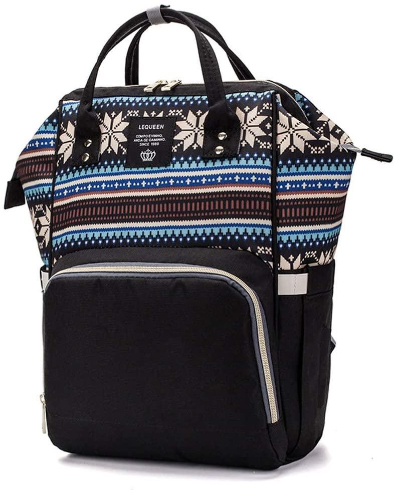 lipiny Mummy Mom Maternity Nappy Diaper Bag Large Capacity Baby Travel Orgainzer Backpack Handbag for Kids Student Men Womens Outdoor School