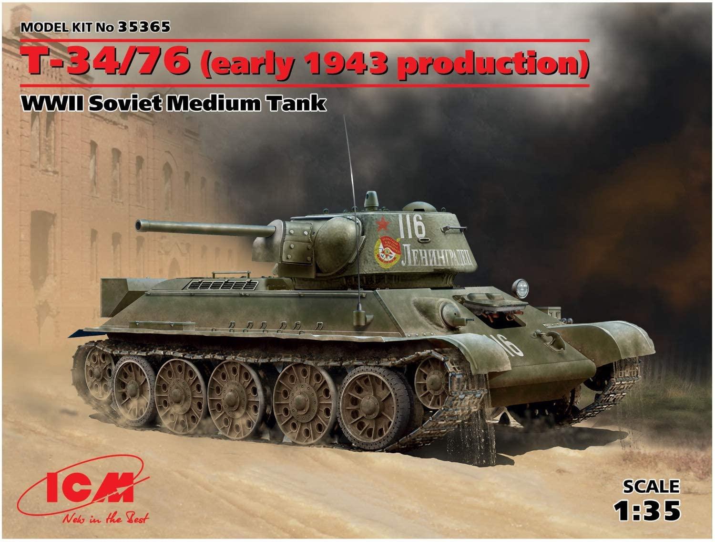 ICM Models WWII Soviet Medium Tank Model Kit