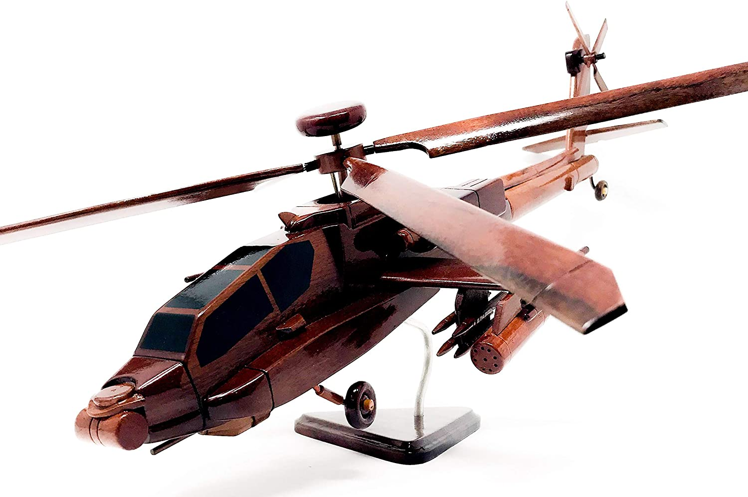 AH-64 Apache Helicopter Wood Model