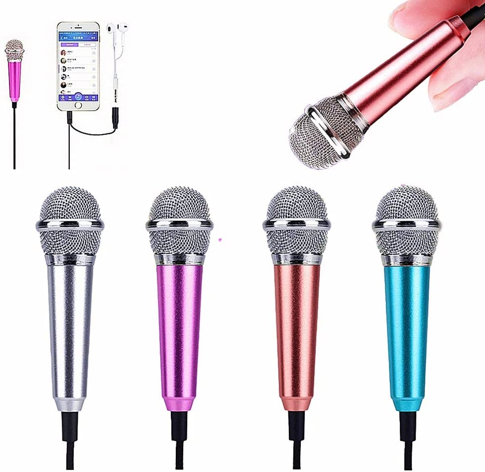 XGPA Mini Microphone Portable Vocal/Instrument Microphone for Mobile Phone Laptop Notebook Apple iPhone Samsung Android(Rose Gold) (Rose Gold)