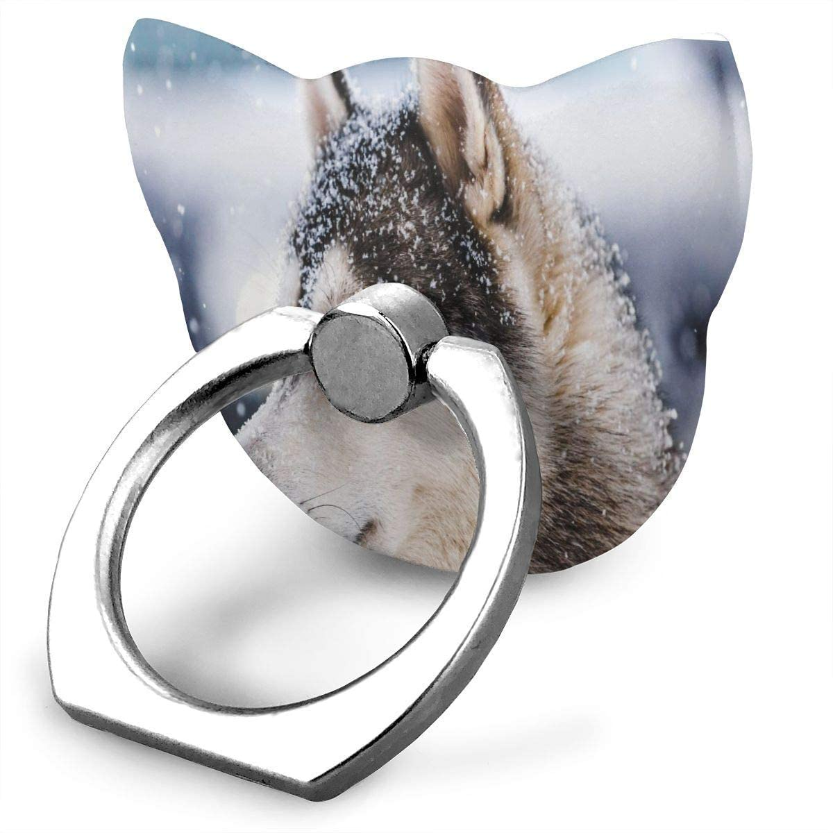 Cat Cell Phone Ring Holder Special Husky Dog Cat Ring Holder Phone Ring Stand Finger Kickstand 360° Rotation Compatible with All Smartphones