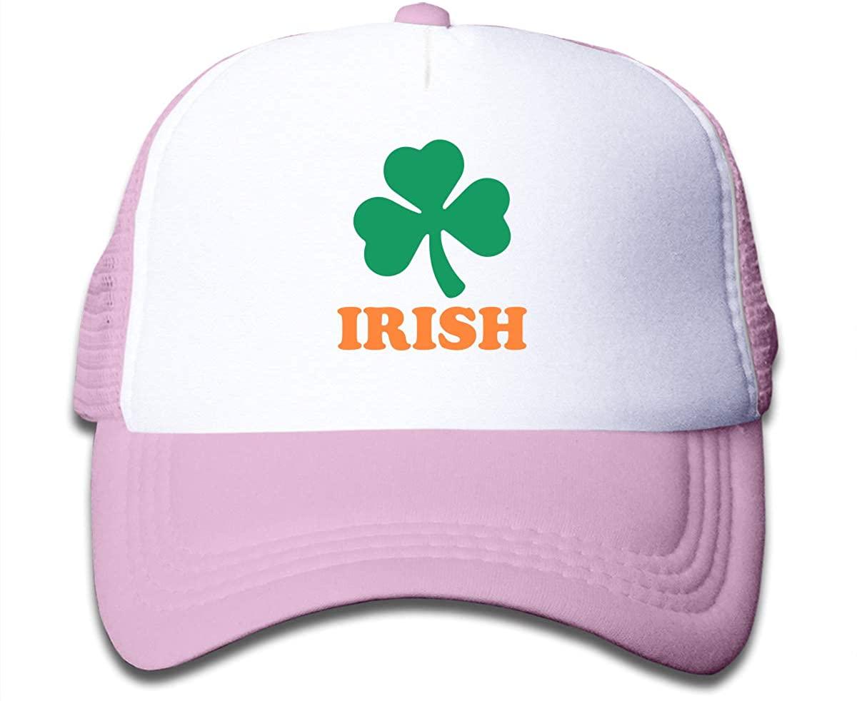Irish Clover Children's Adjustable Mesh Hats Baseball Trucker Cap for Boys and Girls