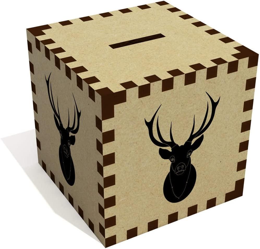 Azeeda 'Black Stag Head' Money Box / Piggy Bank (MB00003229)