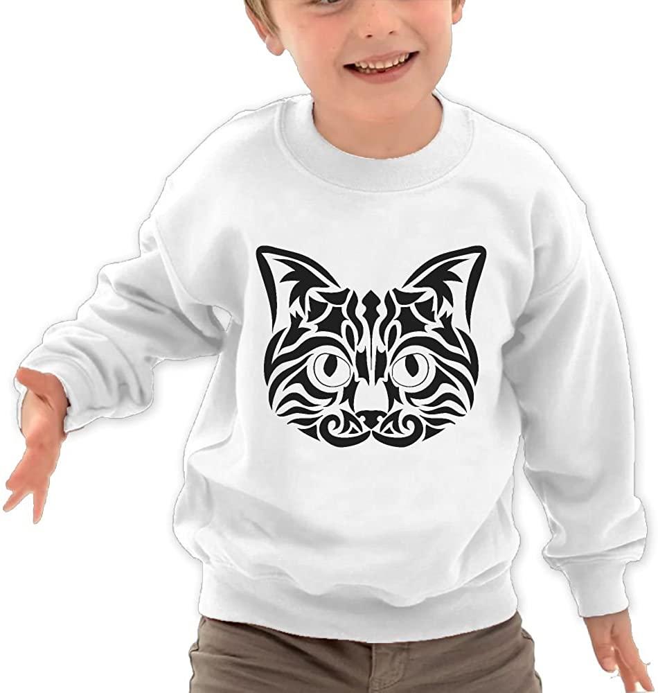 JasonMade Kids Tribal Cat Pattern Humor Crewneck Pullover Sweaters