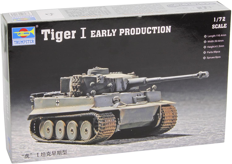 Trumpeter 1/72 German Tiger I Tank Early Version