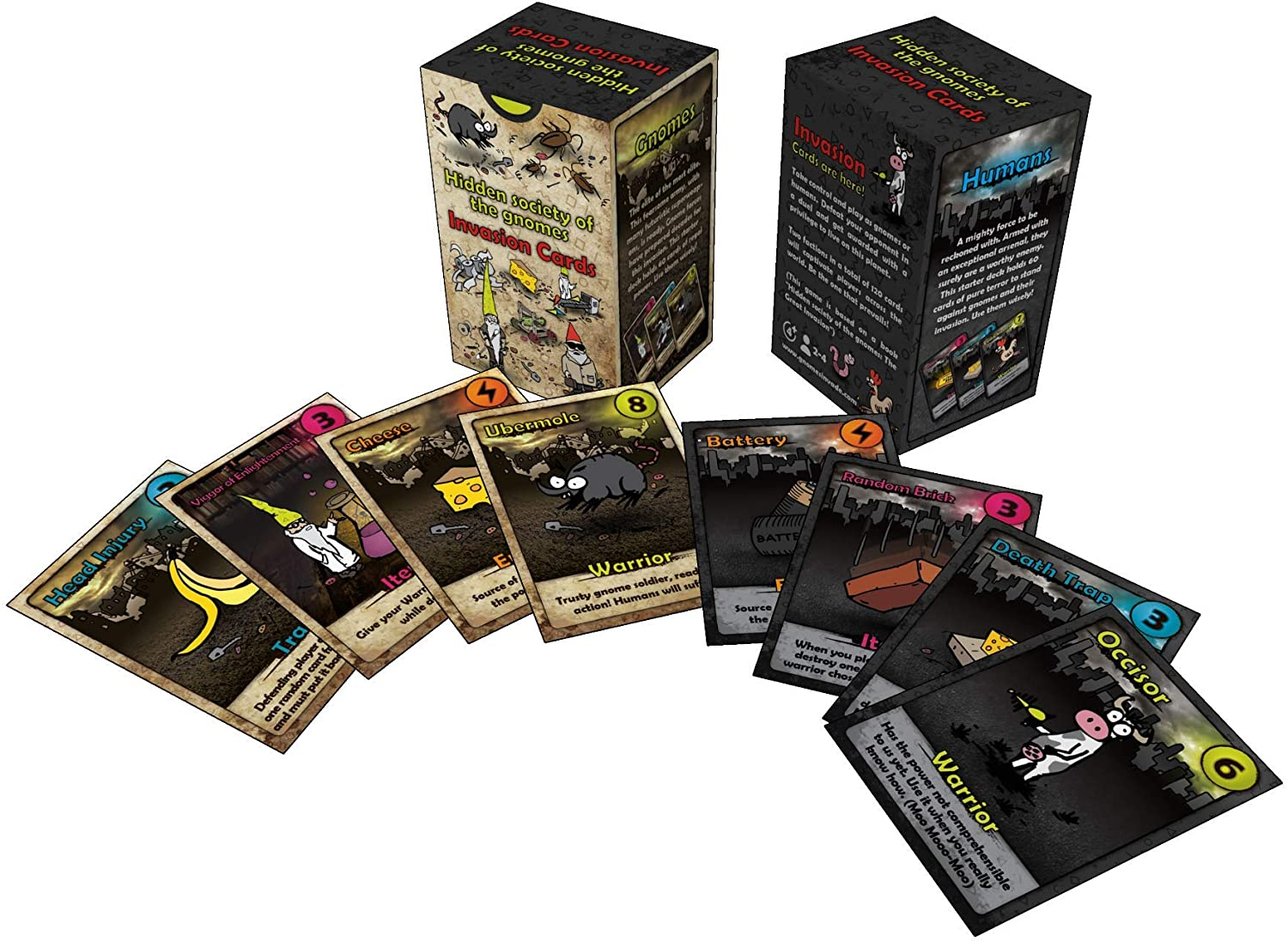 Fun Family Duel Card Game Hidden Society of The Gnomes Invasion Cards