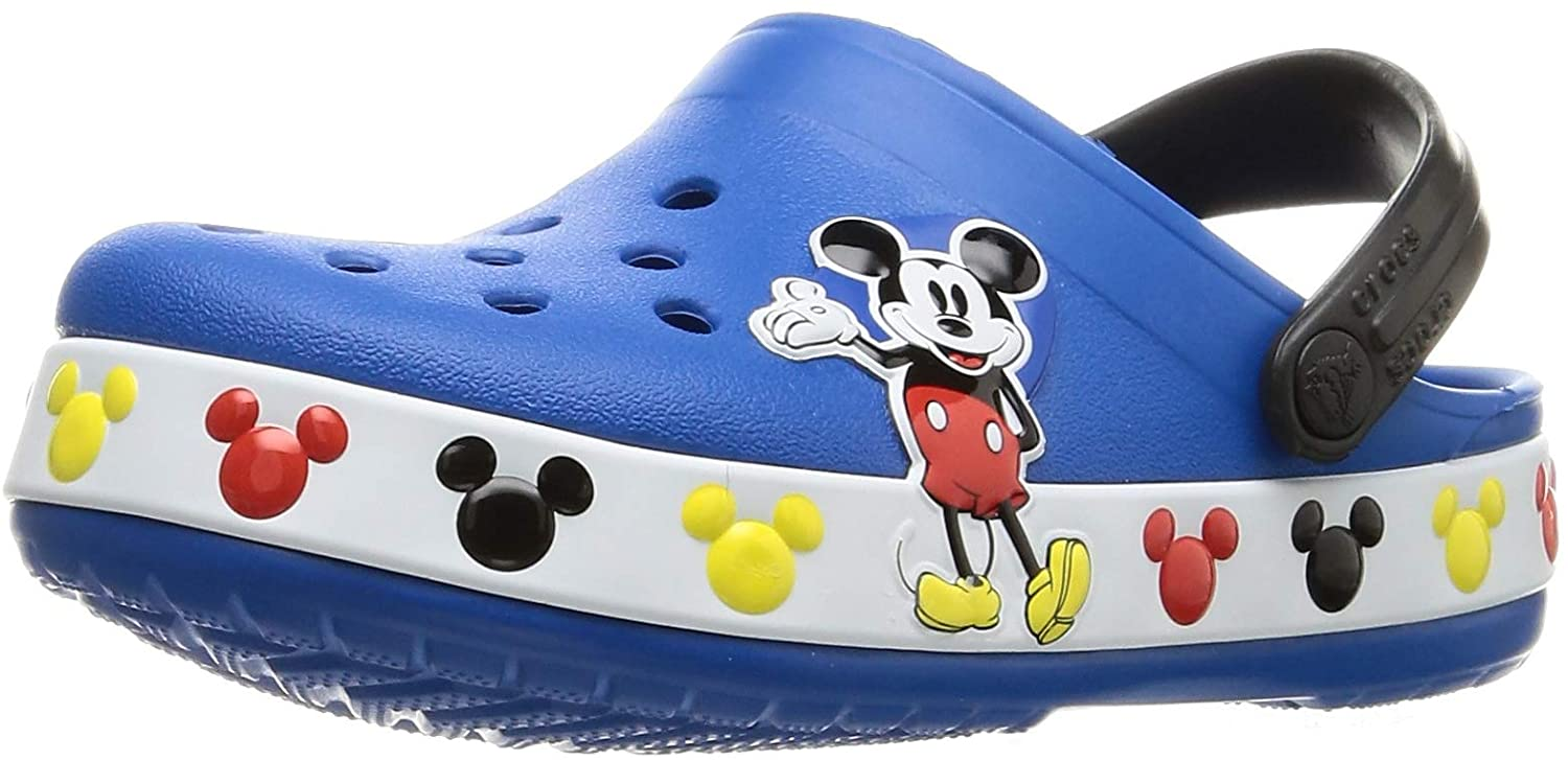 Crocs Baby Kid's Disney Mickey Mouse Clog|Water Shoe for Toddlers, Boys, Girls, Bright Cobalt, C5 M US