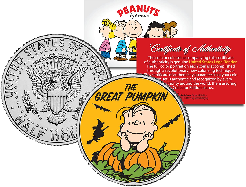 Peanuts HALLOWEEN GREAT PUMPKIN WITCH JFK Half Dollar U.S. Coin *Licensed*