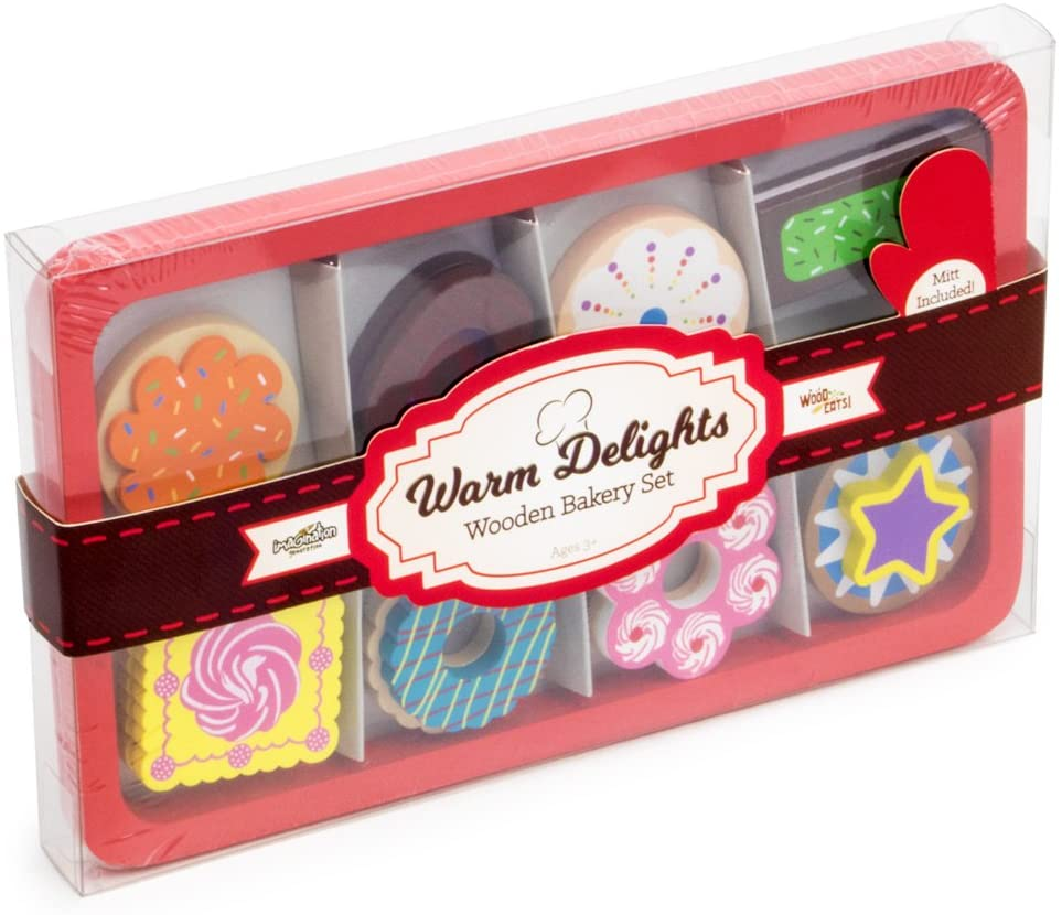 IMG Deluxe Wooden Pretend Food Cookie Play Set - 10 Pieces!