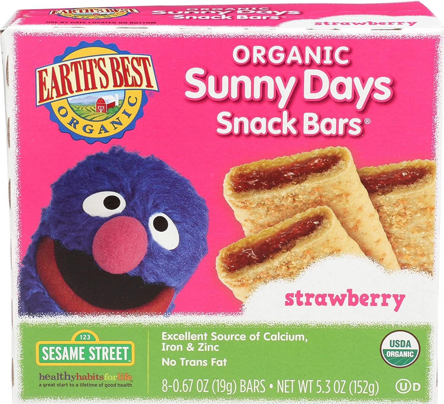 Earth's Best Organic Sunny Days Snack Bars, Strawberry, 8 Count
