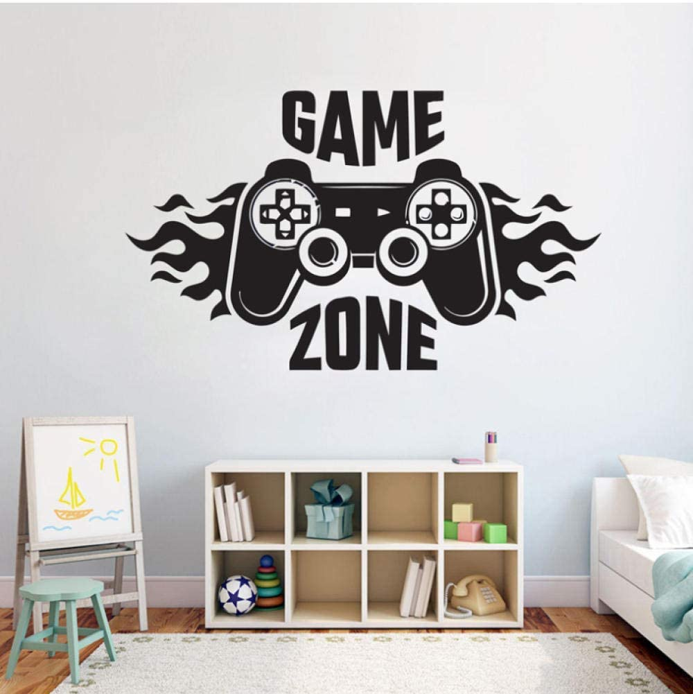 Diuangfoong Kids Bedroom Wall Decal Sticker Home Decoration Game Zone Gamer Art Decal Mural Poster Boys Palyroom Wall Decoration
