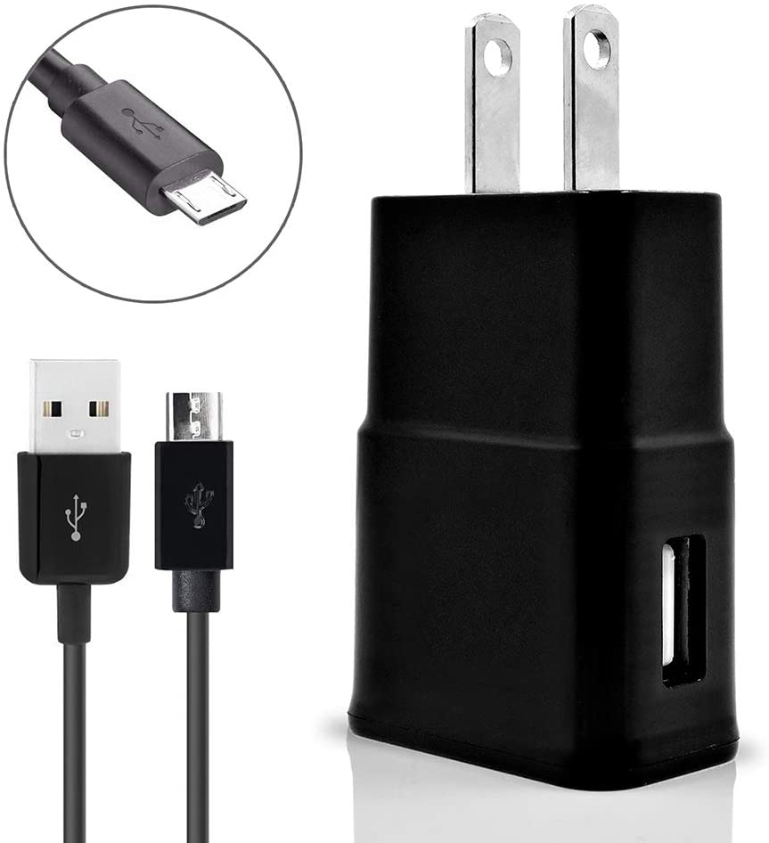 for Asus ZenFone 2 Laser ZE600KL Cell Phones Accessory Kit 2 in 1 Charger Set [3.1 Amp USB Wall Charger + 3 Feet Micro USB Cable] Black
