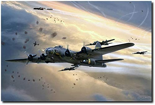 Assult On Romilly by Peter Chilelli - oeing B-17F Flying Fortress - Aviation Art (Open Edition Paper - Large- Image Size: 24