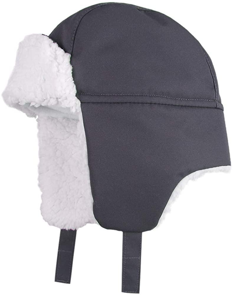 Zsedrut Winter Baby Boy Trapper Hat Waterproof Ushanka Earflap Caps Warm Fleece Lined Hats for Toddler Boys