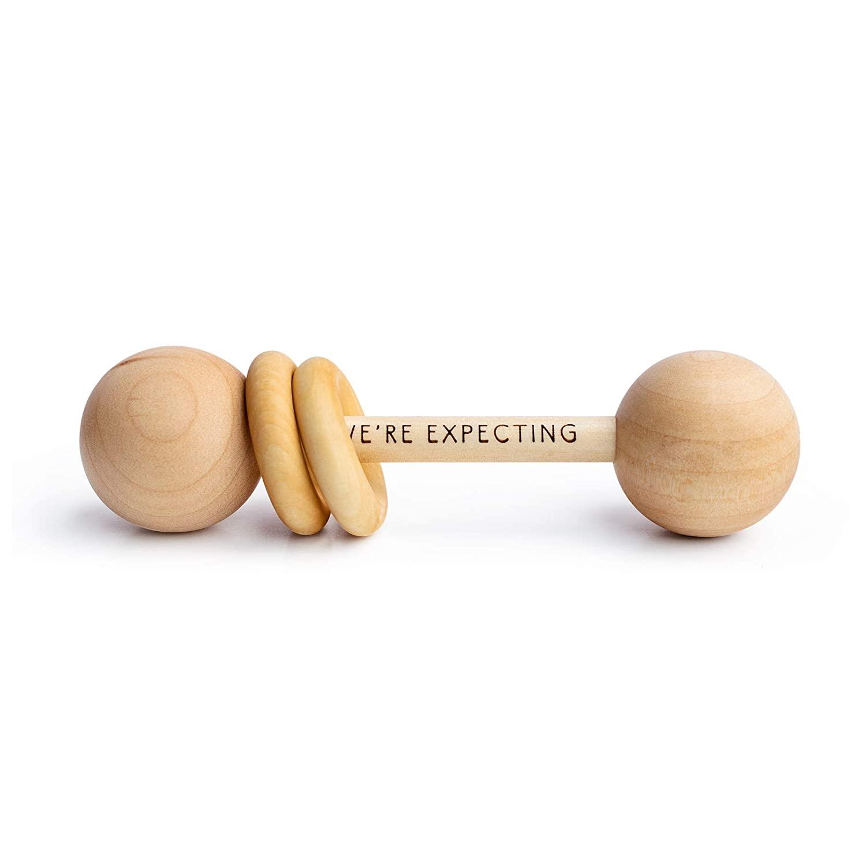 Pregnancy Announcement Baby Rattle Photo Prop -