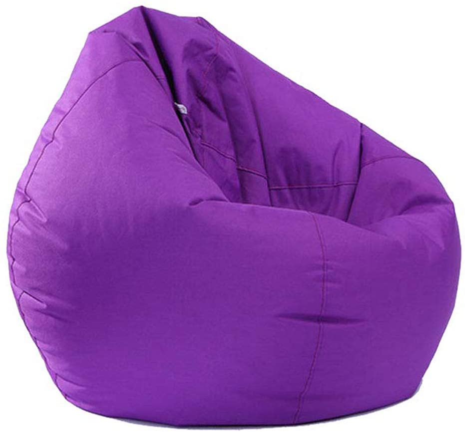 Bean Bag Cover Animal Storage Bean Bag Chair Sofa Cover Stuffed Animals Waterproof for Kids (Purple, One Size)