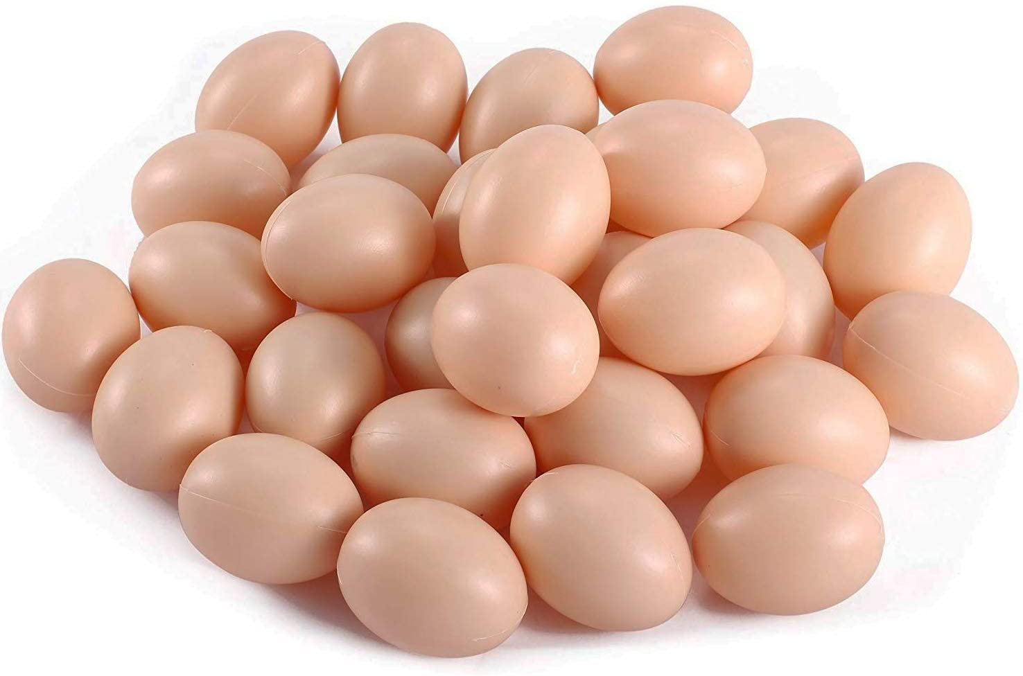 Liberty Imports Bag of Realistic Chicken Eggs Toy Food Playset for Kids (Pack of 30 Faux Fake Eggs)