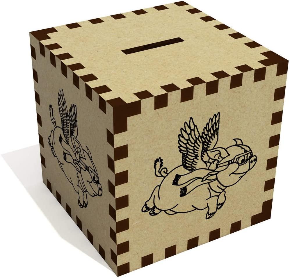 Azeeda 'Flying Pig' Money Box / Piggy Bank (MB00006841)