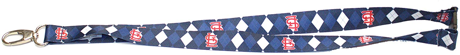 Pro Specialties Group MLB St. Louis Cardinals Argyle Lanyard, Blue, One Size