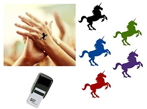 UNICORN Hand Stamp - suitable for Festivals, Parties, Clubs, Special Events, Bars etc. (Violet)