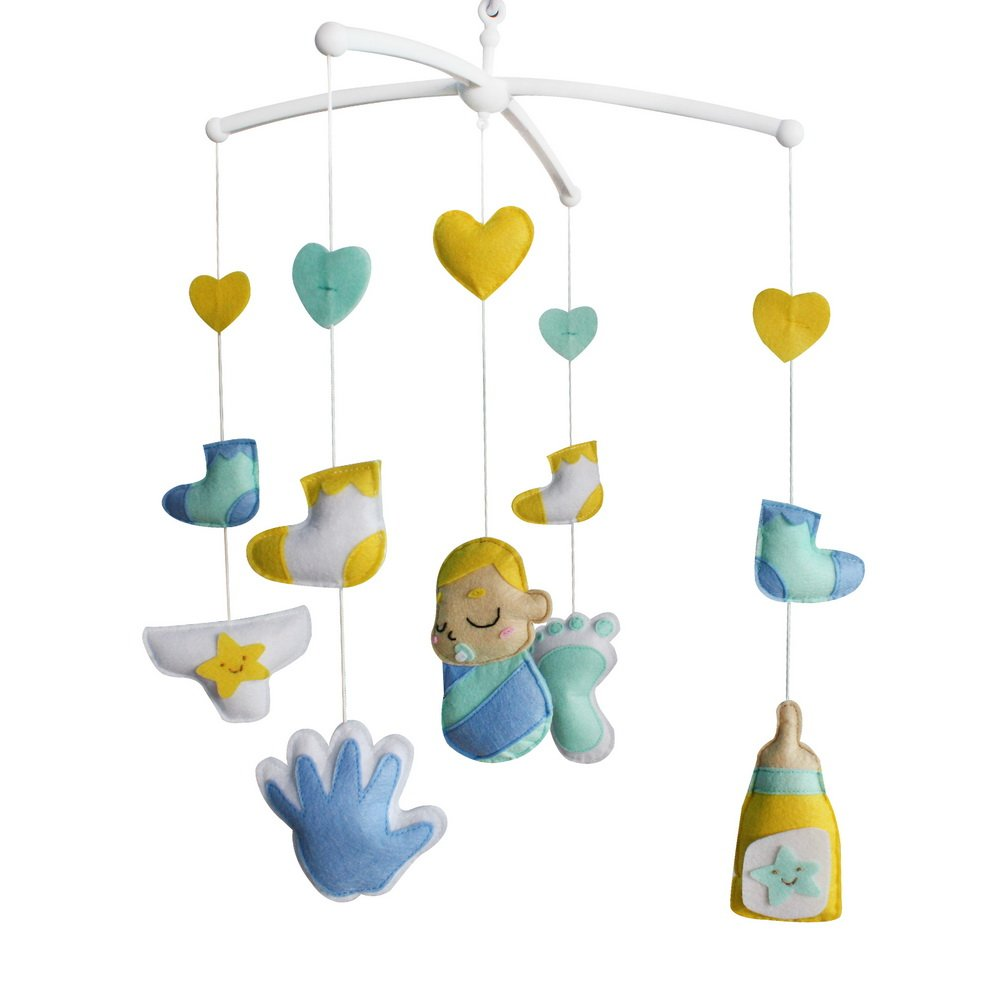 Handmade Baby Crib Mobile Toy Gift Nursery Decoration for 0-2 Years, MQ11