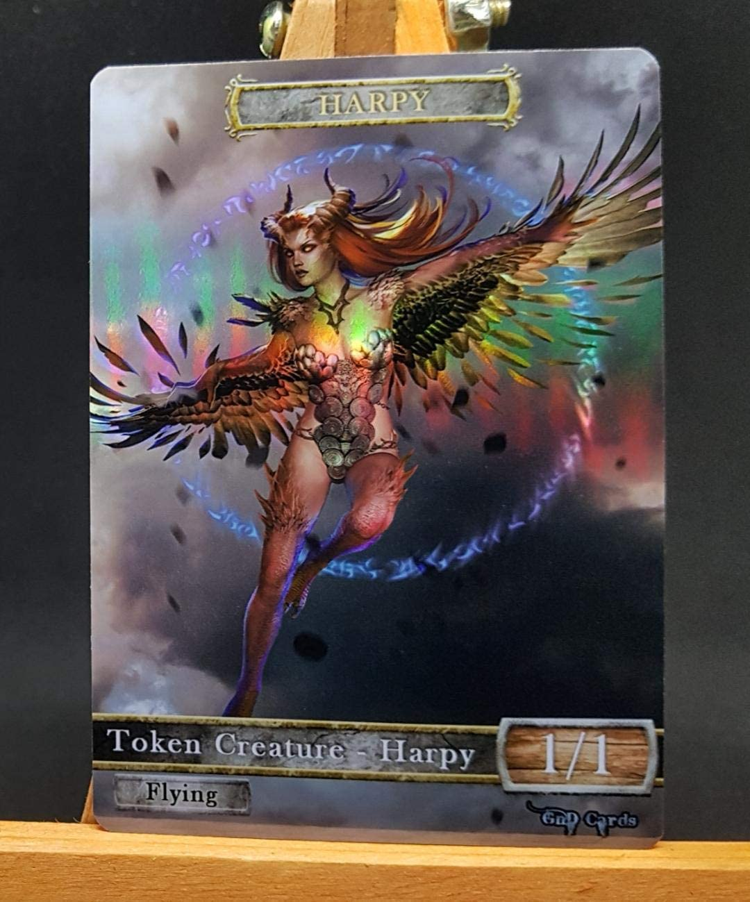GnD Cards 1x Harpy FOIL Laminated Custom Altered Token