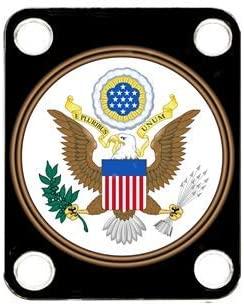 Custom Graphical Guitar Neck Plate Neckplate Flag USA Seal