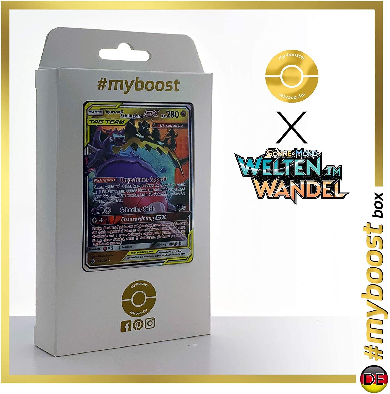 Agoyon & Schlingking-GX (Naganadel & Guzzlord-GX) 158/236 - #myboost X Sonne & Mond 12 Welten im Wandel - Box of 10 Pokemon Deutsche Cards
