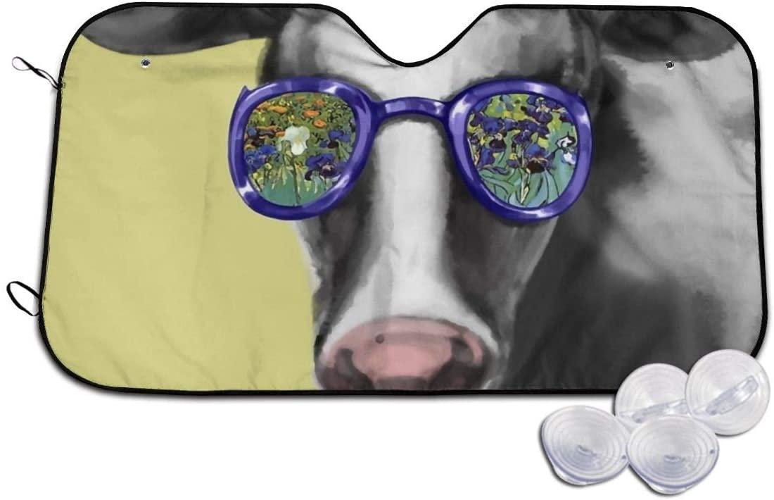 Windshield Sun Shade Cow Wea Sunglasses Blocks Heat Keeps Your Vehicle Cool Visor Protector Auto Front Window Heat Insulation
