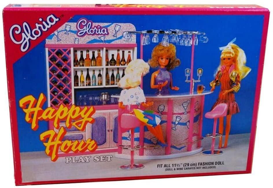 George Jimmy Luxurious 11.5'' Doll House Living Room Furniture Set-Fashion Bar
