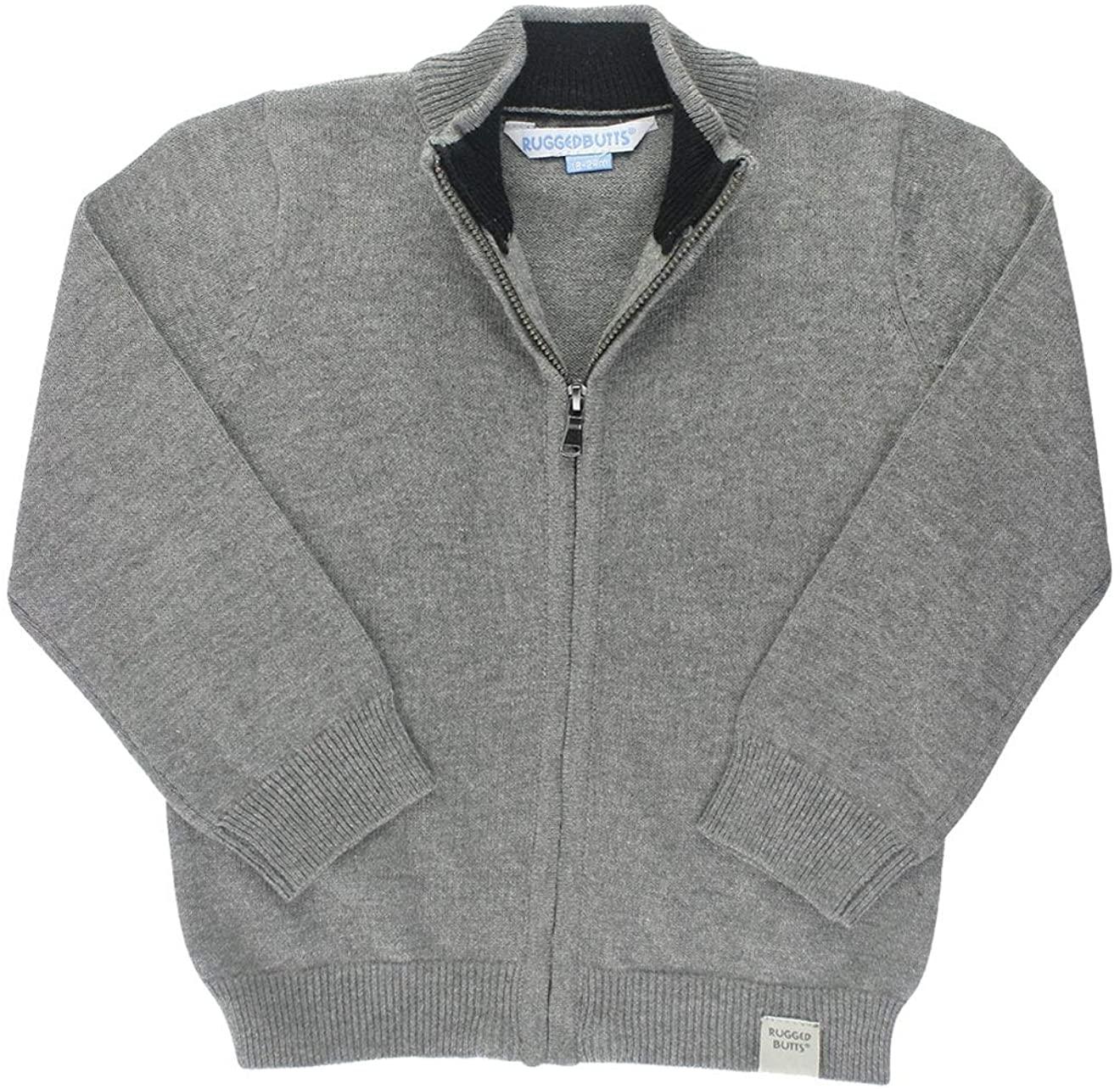 RuggedButts Baby/Toddler Boys Full-Zip Sweater