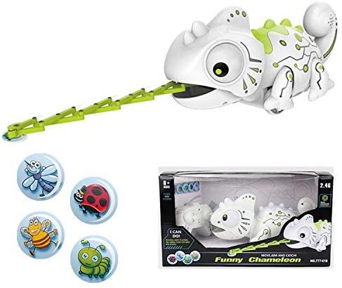 elegantstunning Remote Control Chameleon Pet Intelligent Toy Robot for Children