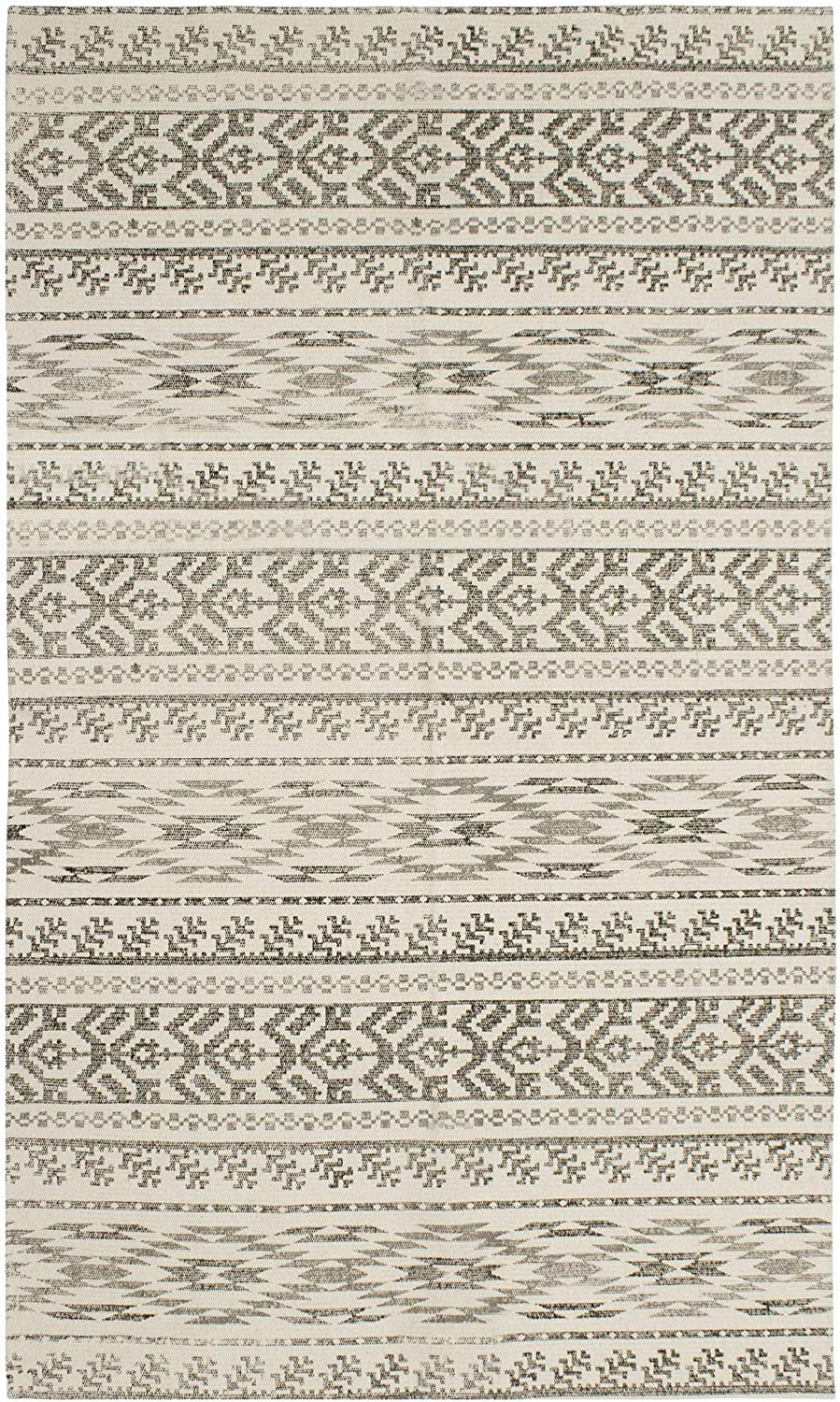 French Connection Gabi Stonewash Cotton Accent Rug, 36 in. x 60 in, Natural Printed