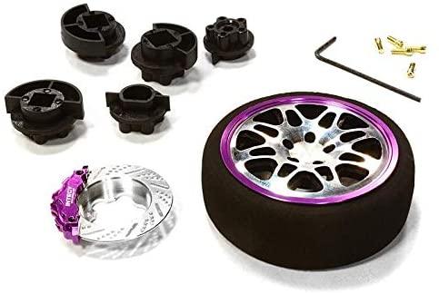 Integy RC Model Hop-ups C26403BLACKPURPLE Dual 8 Spoke Steering Wheel Set for Most HPI, Futaba, Airtronics, Hitec & KO