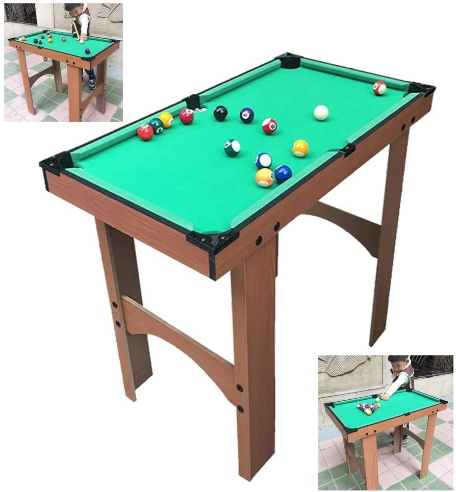 Children's Billiard Table American Black 8 Tabletop Pool Table Indoor Cool Games Boys and Girls Toys Birthday Gifts (Color : B, Size : 804367cm)