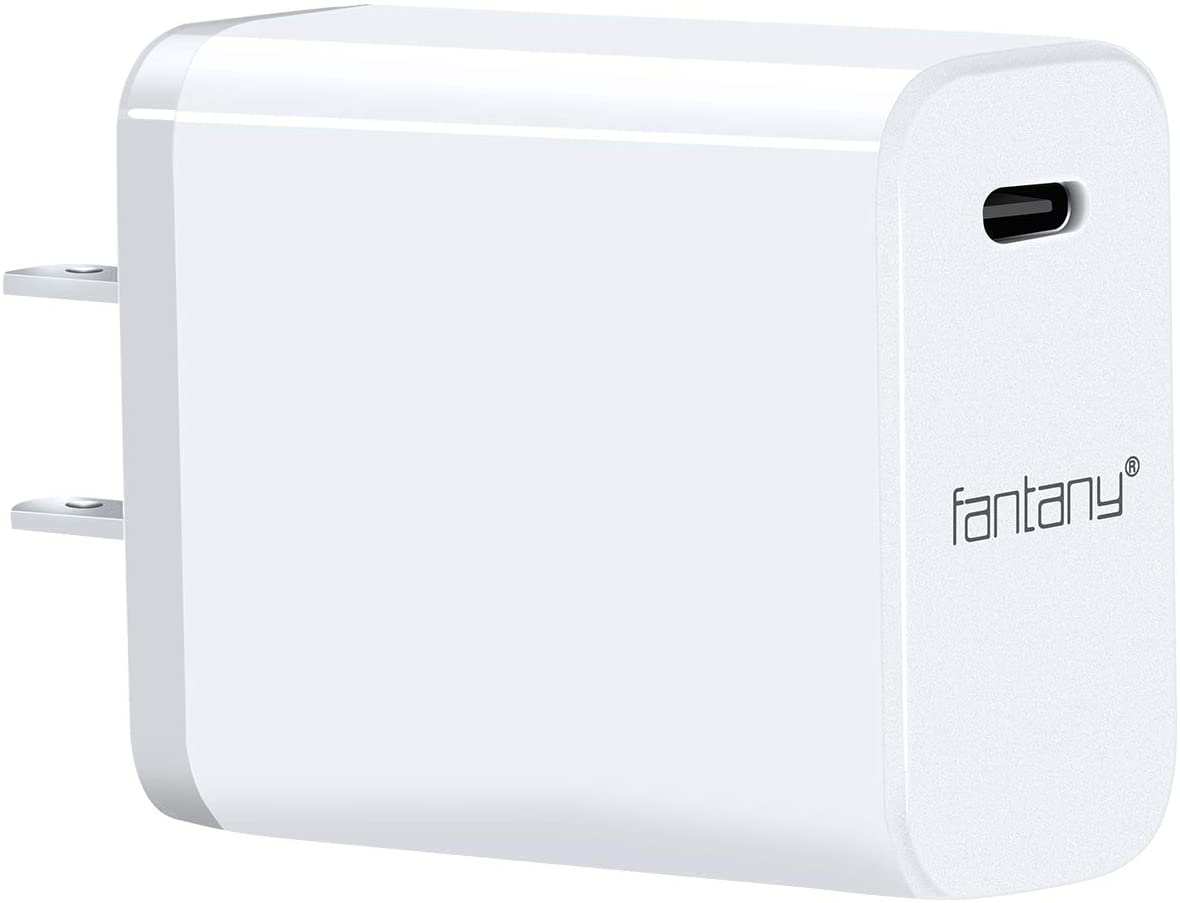 USB C Charger,[UL Listed]Fantany 30W USB C PD 3.0 Wall Charger for iPhone 11,11 Pro,11 Pro Max,XS,XS Max,XR,X,8,8 Plus,iPad Pro,Galaxy S10+,S9,S8,Note 8,9,Pixel 2,3,4,LG,HTC(NOT Included Cable),White
