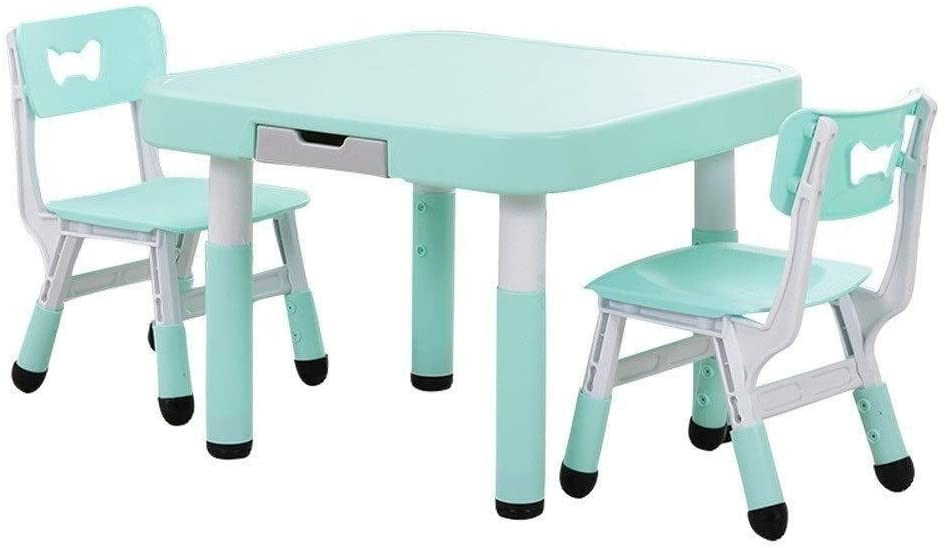 Children's study desk Toddler Tables Chairs Children's Table Stool Drawer Storage Dining Table Learn Activity Process Kindergarten, Living Room Gaming Room 2 Colours Children's study table and chair s